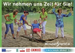 Wirtschaft Steyrtal Plakat Wellness Sommer 2014